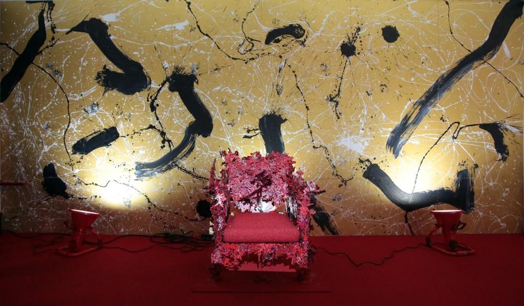 オーケストラ,展覧会,iPhone,Gold,愛の椅子,書道家,書家,書道,Calligraphy,Calligrapher,ART,山口芳水,YamaguchiHousui,プロジェクション,マッピング