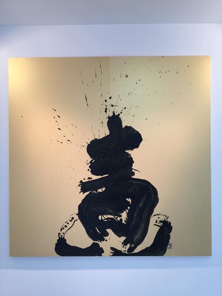 MI,gallery,ギャラリー,大阪,青い,書家,書道家,山口芳水