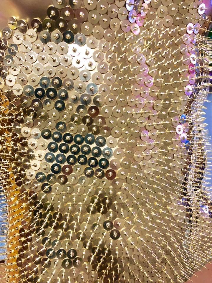貪欲 欲 国立新美術館 書道家 山口芳水 G マネキン  手形 画鋲 羅列 ART アート アーティスト キャプション