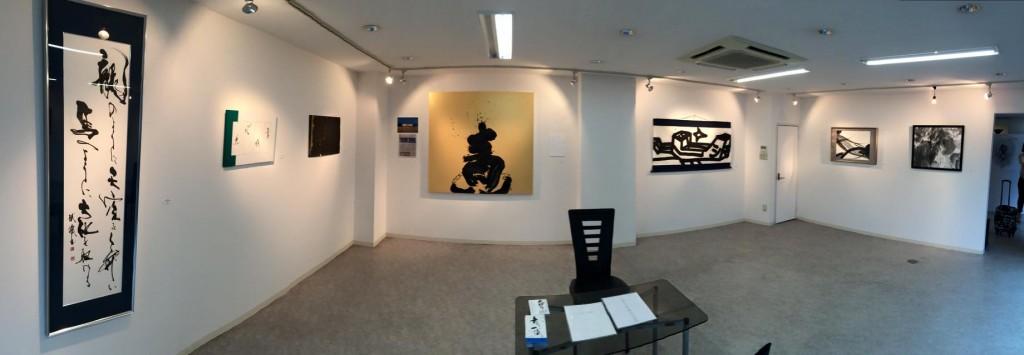 MI,gallery,ギャラリー,大阪,青い,書家,書道家,山口芳水,作品