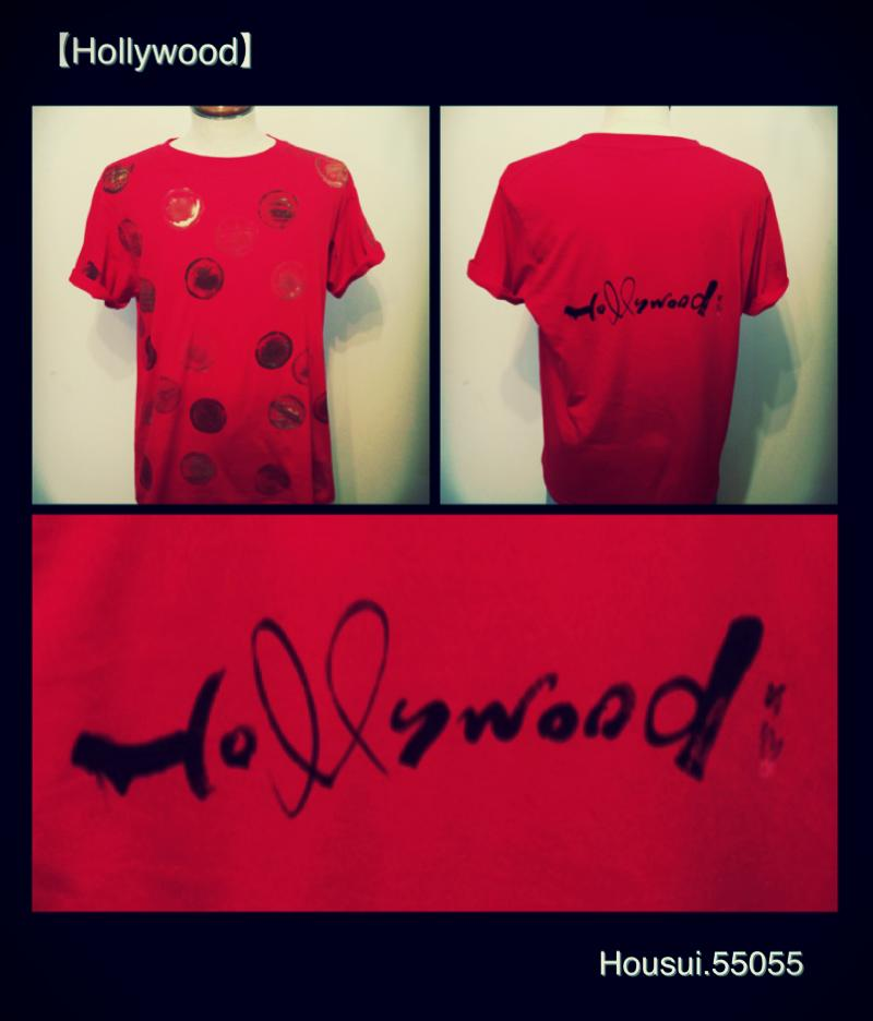 hollywood t shirt 書道家 作品 calligraphy design