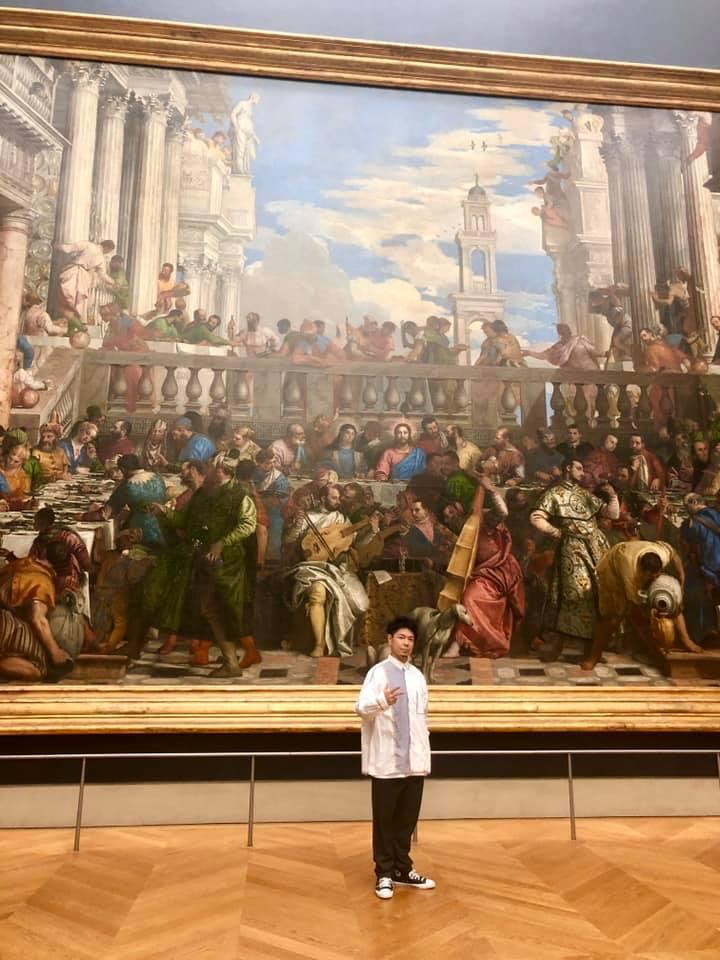 ルーヴル美術館 内 カルーセル 書道家 アーティスト アート 山口芳水 フランス パリ Musée du Louvre