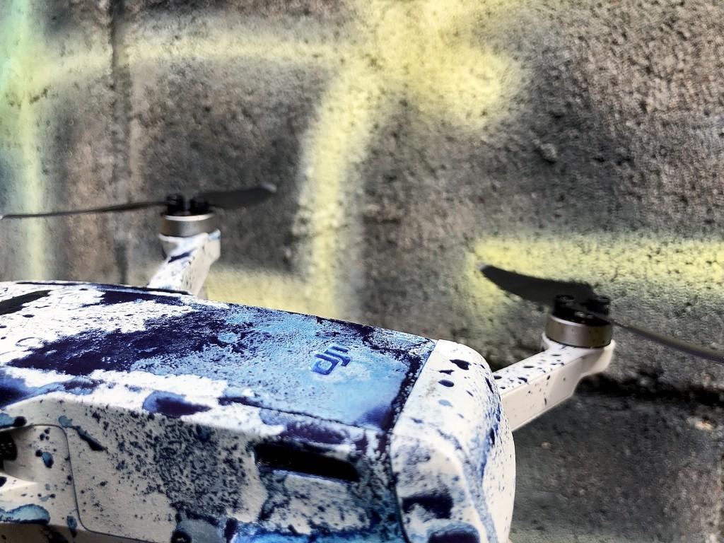 廃墟 drone ドローンで描く 書道家 art アート