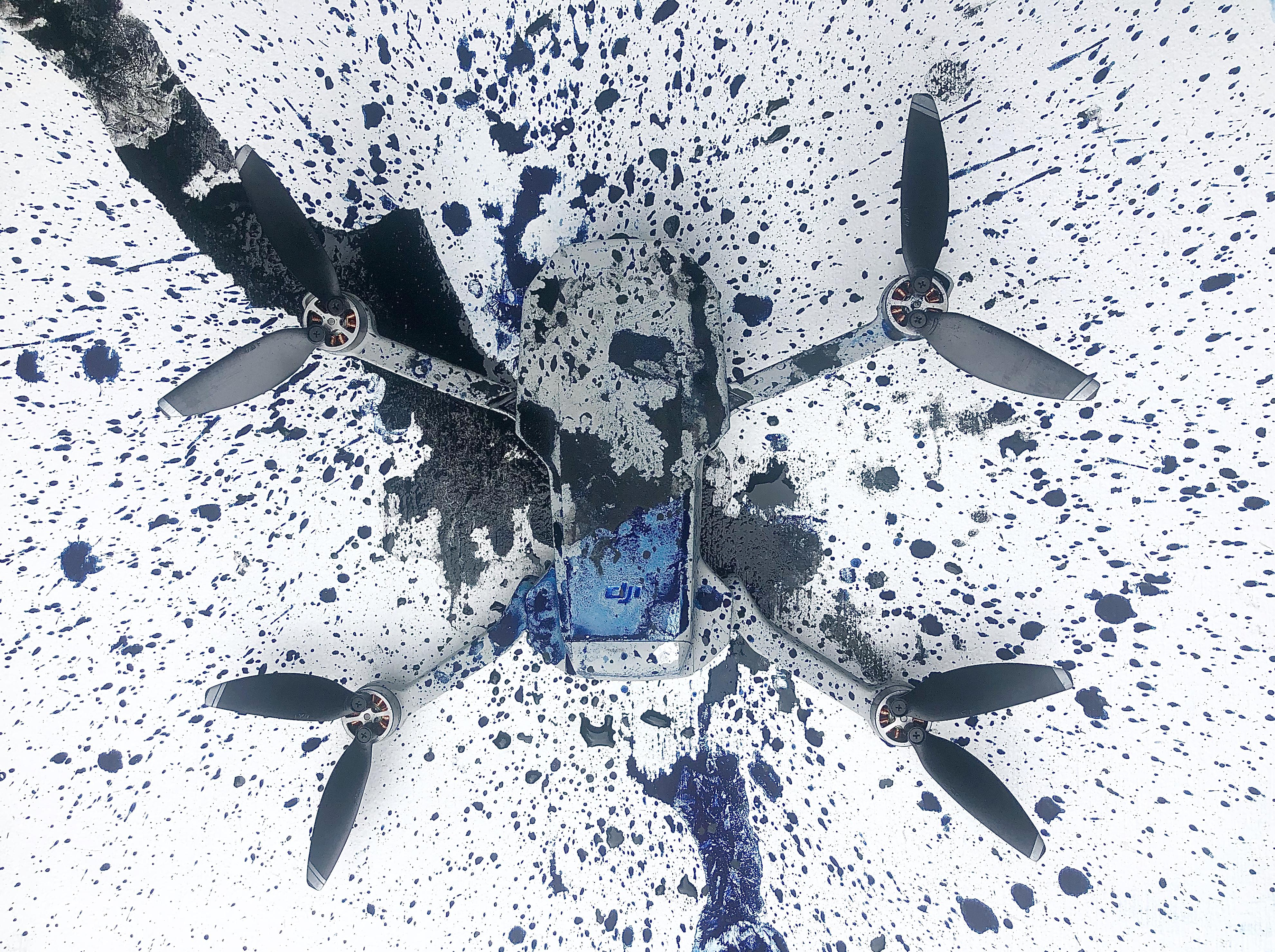drone ドローンで描く 書道家 art アート