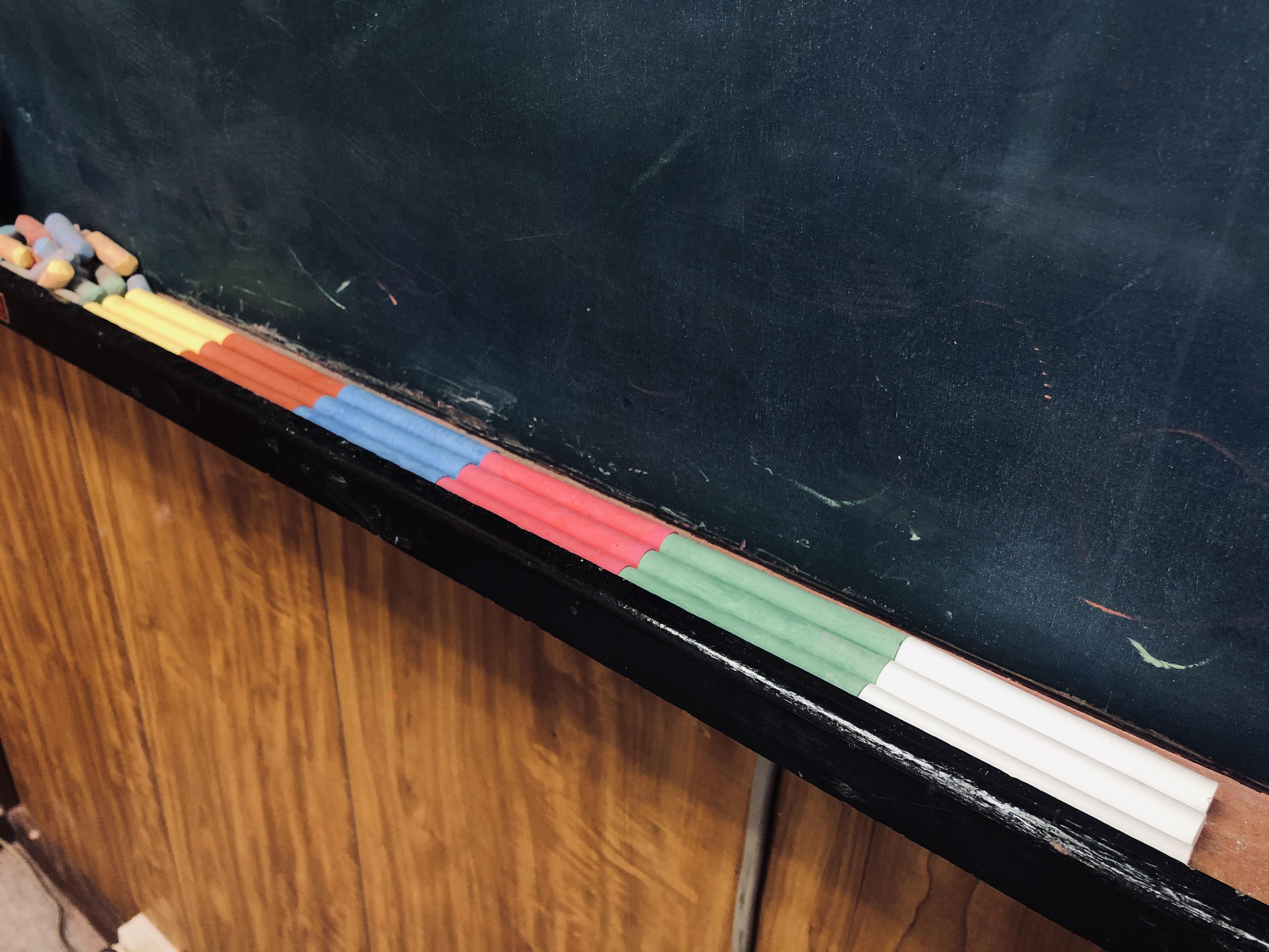 黒板 チョーク 書道教室 佐賀 習い事 重ね文字 クイズ