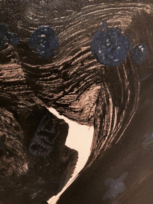壱岐島,長栄寺,青い,山口芳水,個展,展覧会,作品,書家,書道家,パフォーマンス,Calligraphy